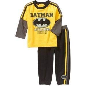Batman Infant Boys 2 Piece Outfit
